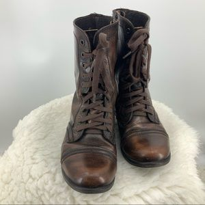 Steve madden troopa distressed look leather boot